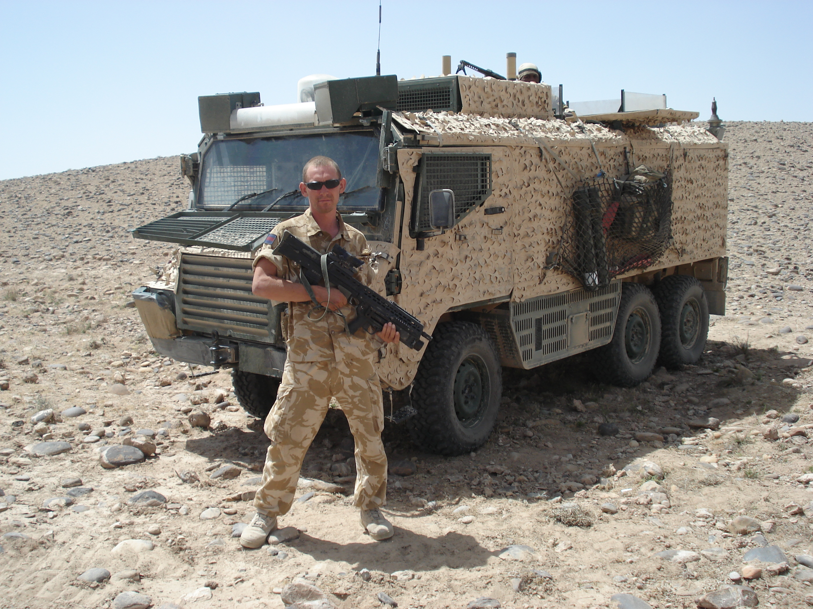 Andrew Powell in Afghanistan in 2007
