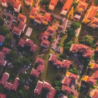 Overhead view of houses for Are you ex-Service and priced out of the housing market? blog