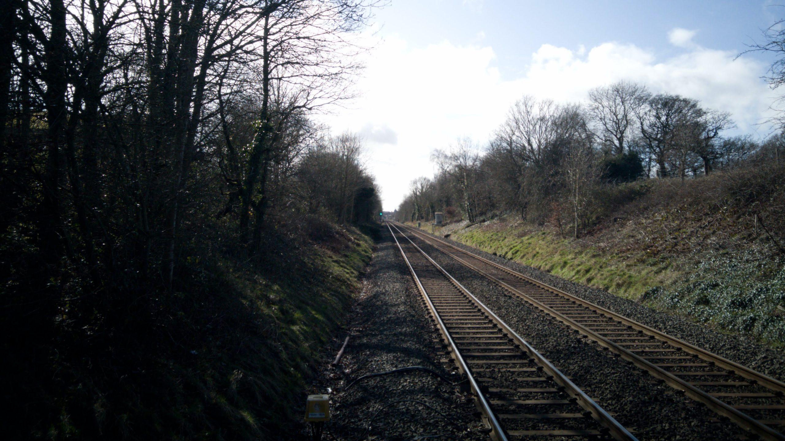 Train tracks in Solihull