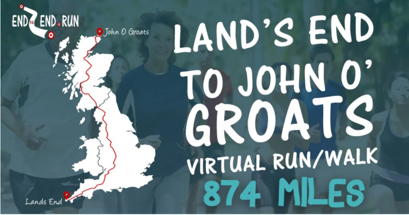 Graphic for Land's End to John O' Groats walk