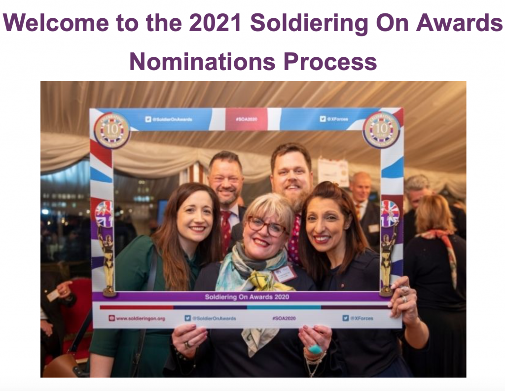 2021 Soldiering On Awards Nominations Process
